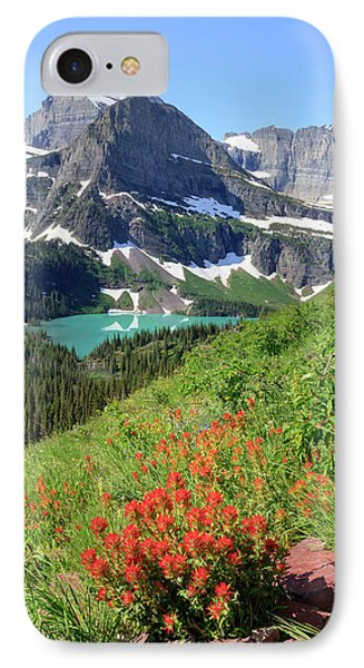 Paintbrush Above Grinnell Lake IPhone Case