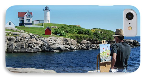 Painting Nubble Lighthouse IPhone Case