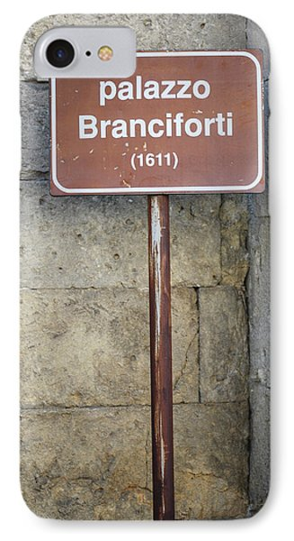 palazzo Branciforte 1611 IPhone Case