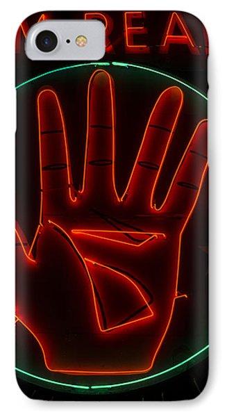 Tarot reader iphone 8 cases fine art america tarot reader iphone 8 case palm reader neon sign by mindy sommers m4hsunfo