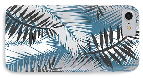 Shapes iPhone 8 Case - Palm Trees 10 by Mark Ashkenazi