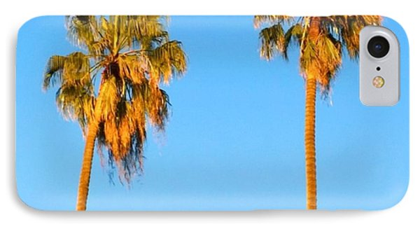 #palm #trees At Sunset. #california IPhone Case