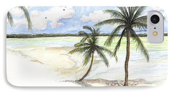 Palm Trees On The Beach IPhone Case