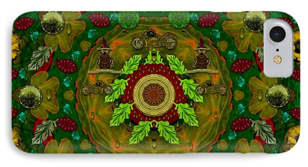 Panda Bears With Motorcycles In The Mandala Forest IPhone Case