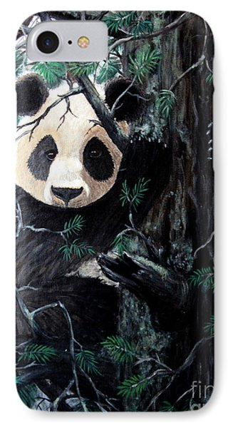 Panda In Tree IPhone Case