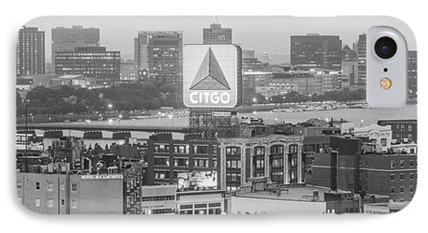 Panoramic Boston Skyline Aerial Photo IPhone Case