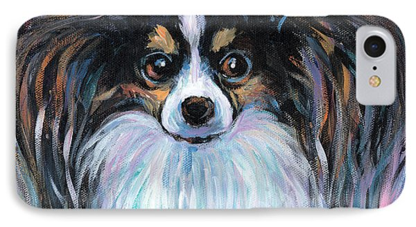 Papillon Dog Painting IPhone Case