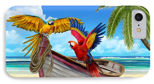 Parrots Of The Caribbean IPhone Case