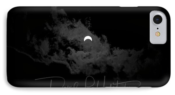 Partial Eclipse, Signed. IPhone Case