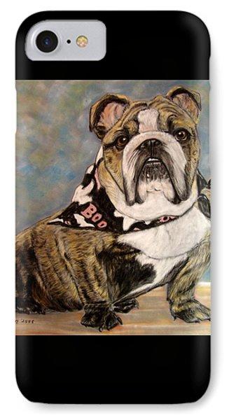 Pastel English Brindle Bull Dog IPhone Case