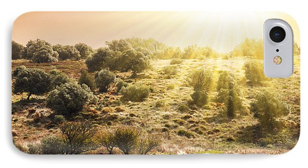 Beautiful Nature iPhone 8 Case - Pasturing Horse by Carlos Caetano