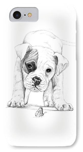 Patch A Boxer Puppy IPhone Case