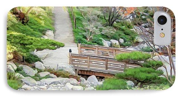 Pathway Trough Japanese Garden IPhone Case