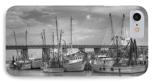 Patience Tybee Island Shrimpers Art IPhone Case