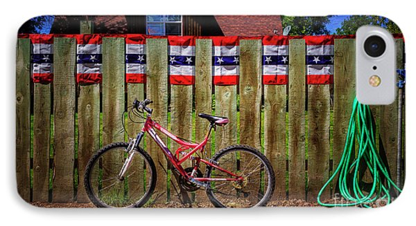 IPhone Case featuring the photograph Patriotic Bicycle by Craig J Satterlee