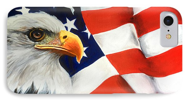 Patriotic Eagle And Flag IPhone Case