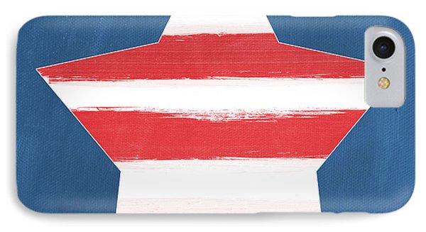 American iPhone 8 Case - Patriotic Star by Linda Woods