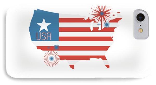 Patriotic Usa IPhone Case