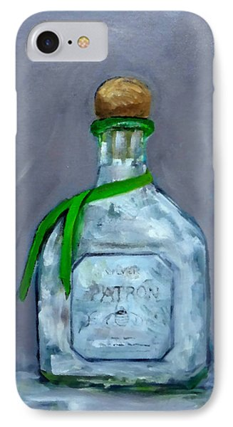 Patron Silver Tequila Bottle Man Cave  IPhone Case
