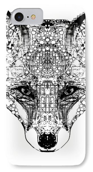 Patterned Fox IPhone Case