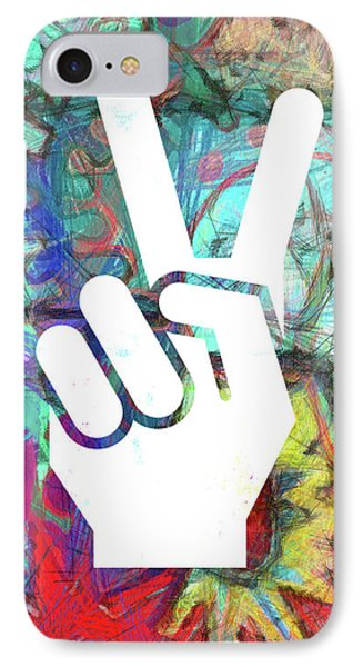 Peace Hand Sign 1  IPhone Case