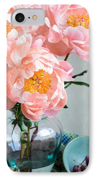 Peachy Peonies IPhone Case