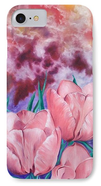 Peachypink Tulips IPhone Case
