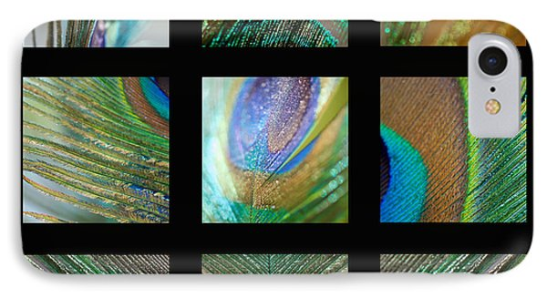 Peacock Feather Mosaic IPhone Case