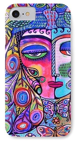Peacock Pink Butterfly Goddess IPhone Case