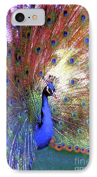 Peacock Wonder, Colorful Art IPhone Case