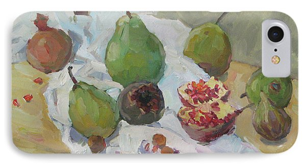 Pears Figs And Young Pomegranates IPhone Case
