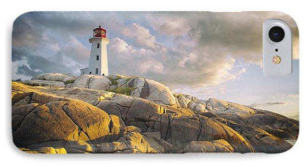 Peggys  Cove Lighthouse In Nova Scotia Canada IPhone Case