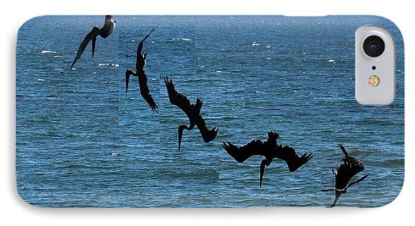 Pelican Dive 7 Photos In 2.5 Seconds IPhone Case