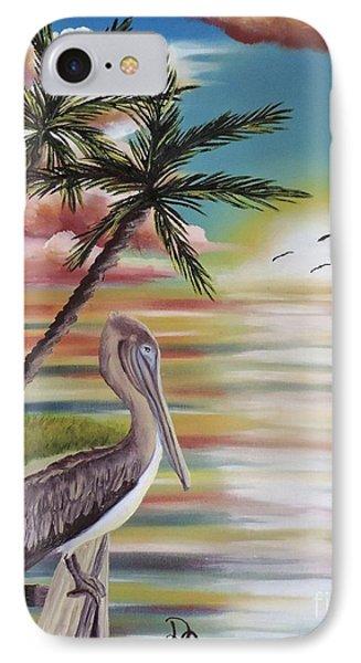 Pelican Sunset IPhone Case
