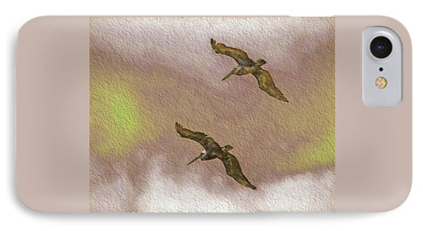 Pelicans On Cave Wall IPhone Case