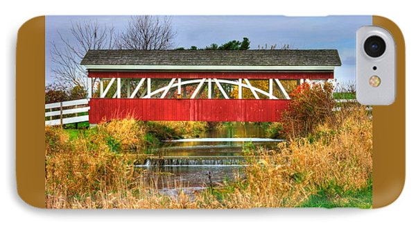 Pennsylvania Country Roads - Oregon Dairy Covered Bridge Over Shirks Run - Lancaster County IPhone Case