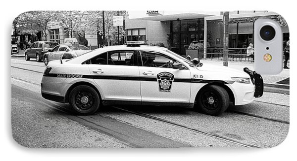 pennsylvania state trooper police cruiser vehicle Philadelphia USA IPhone Case