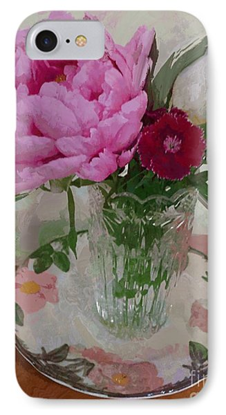 Peonies With Sweet Williams IPhone Case