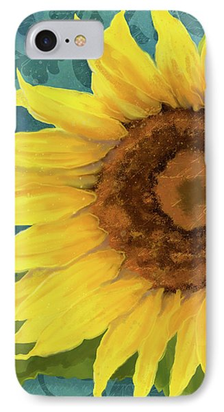 IPhone Case featuring the painting Perfection - Russian Mammoth Sunflower by Audrey Jeanne Roberts
