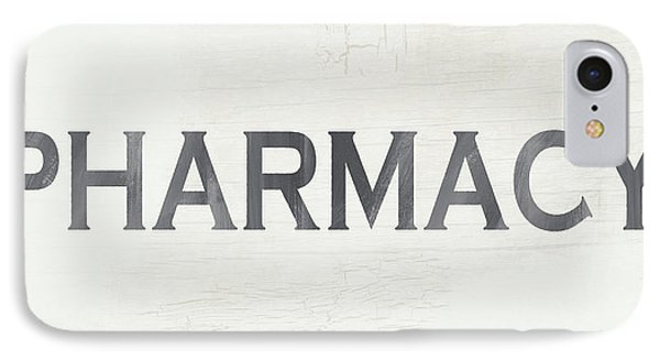 Pharmacy Sign- Art By Linda Woods IPhone Case