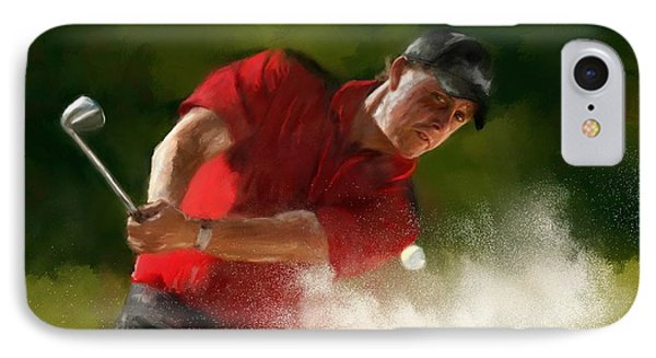 Phil Mickelson - Lefty In Action IPhone Case
