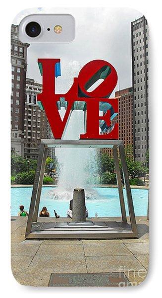 Philadelphia's Love Park IPhone Case