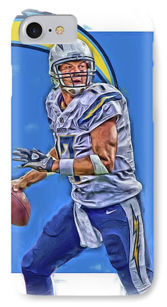 Philip Rivers San Diego Chargers Oil Art IPhone Case