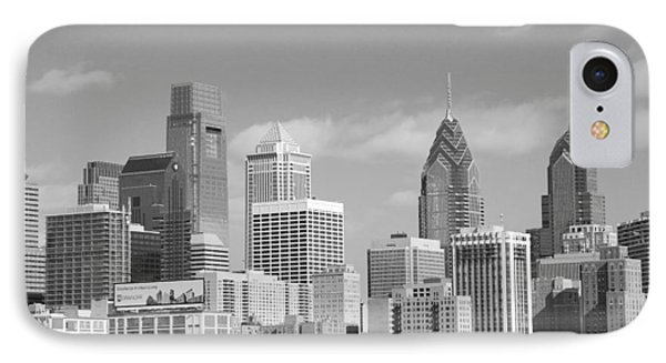 Philly Skyscrapers Black And White IPhone Case