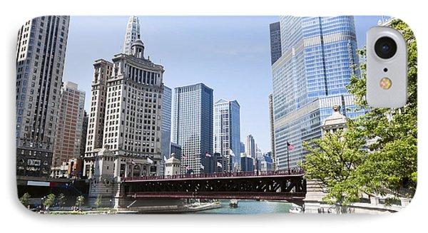 Photo Of Chicago Skyline At Michigan Avenue Bridge IPhone Case