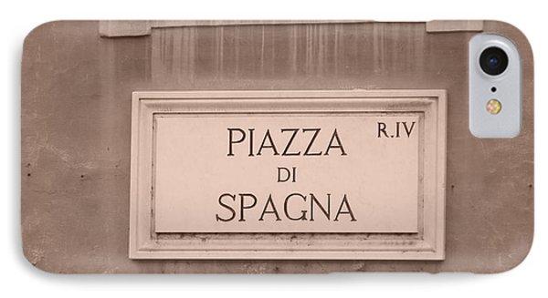 Piazza Di Spagna IPhone Case