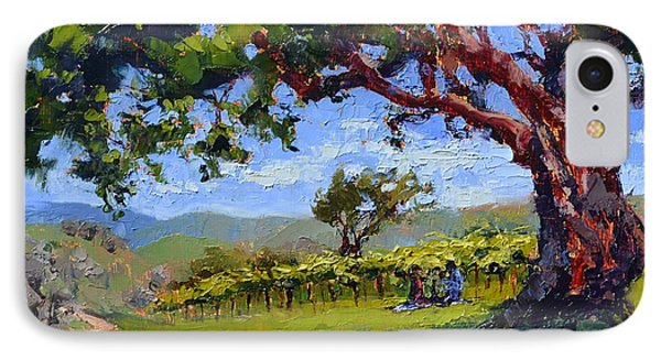 Picnic In The Vineyard IPhone Case