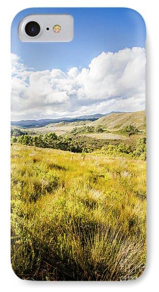 Picturesque Tasmanian Field Landscape IPhone Case