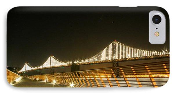 Pier 14 And Bay Bridge Lights IPhone Case