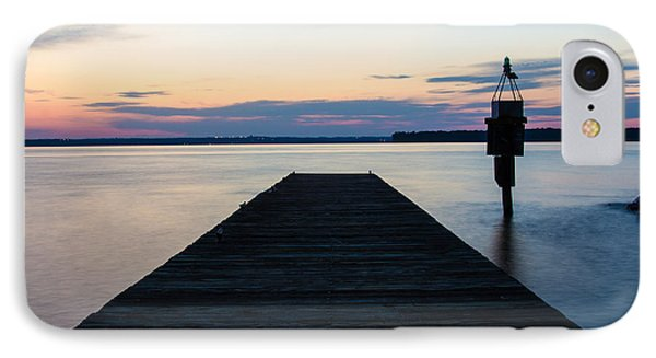 Pier At Sunset 16x20 IPhone Case